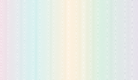 Multicolored guilloche design. Vector abstract striped background. Squiggle thin lines. Ripple subtle curves. Template for watermark, money, banknote, cheque, diploma, certificate secure. EPS10 illust  イラスト・ベクター素材