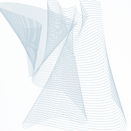 Technology pattern. Draped tangled net. Abstract grid background. Vector squiggle, waving subtle curves. Line art guilloche design. Modern industrial concept. EPS10 illustration  イラスト・ベクター素材
