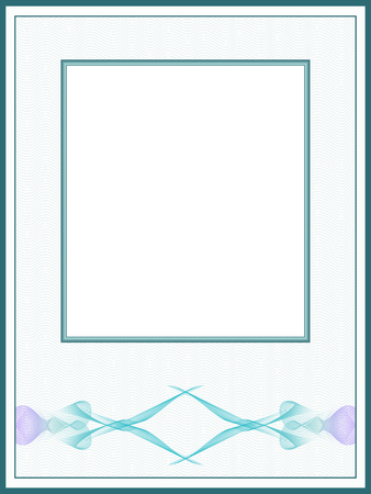 Pastel vintage picture frame, passe-partout. Retro border with guilloche pattern. Vector abstract background. Template for certificate, diploma, invitation. Beige space for text. EPS10 illustration