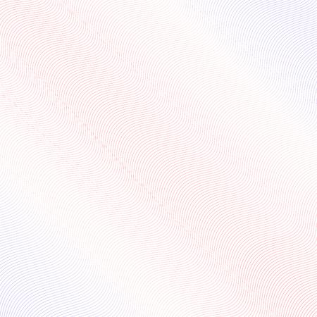 Conception de filigrane rouge clair et bleu. Ondulation des lignes subtiles. Motif guilloché simple. Dégradé doux. Abstrait ondulé de vecteur. Modèle pour argent, billet de banque, diplôme, certificat. Illustration EPS10 Vecteurs