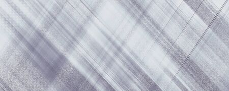 Criss Cross diagonal gray and white lines, strips. Panoramic abstract background. Geometric grunge pattern. Modern wallpaper design. Horizontal textured template for web banner, landing page, website, flyer 免版税图像