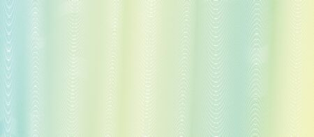 Yellow, green striped guilloche. Soft gradient Undulating lines. Subtle curves. Vector abstract background. Pattern for watermark, money, banknote, document, diploma, certificate. Creative illustration 矢量图像