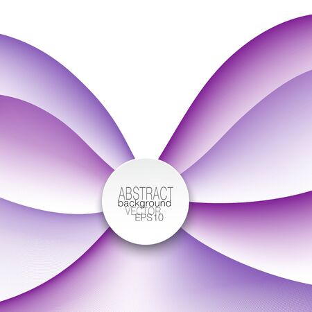 Cover design in bright purple tones. Fantasy line artpattern with round frame for text. Curved thin lines as flower petals. Vector background. Abstract template for brochure, poster, leaflet, flyer, certificate. Creative illustration 矢量图像