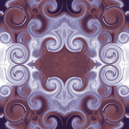 Baroque stylized ornament in purple and maroon. Pattern with scrollworks and circle motifs. Abstract symmetric background. Design for upholstery and drapery material, creative fashion concepts, fabric, tapestry, home decor