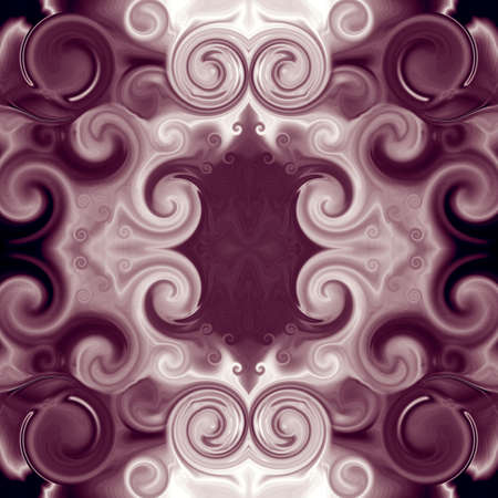 Elegant Baroque ornament with scrollworks and circle motifs. Symmetric pattern in bordo hues. Abstract background. Luxurious design for upholstery and drapery material, creative fashion concepts, fabric, tapestry, home decor