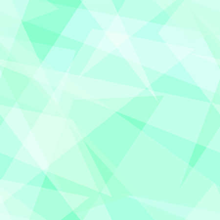 Light green, white transparent triangle shapes. Vector rapport for seamless pattern. Geometric background. Stylized stained glass. Abstract design for wallpaper, wrapping paper, websites. EPS10 illustration Ilustrace
