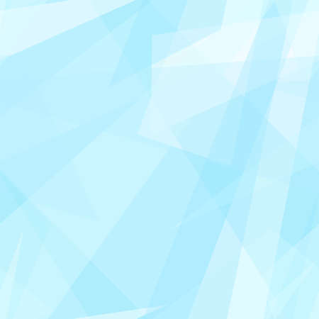 Pastel blue, white transparent triangle shapes. Vector rapport for seamless pattern. Geometric background. Stylized stained glass. Abstract design for wallpaper, wrapping paper, websites. EPS10 illustration