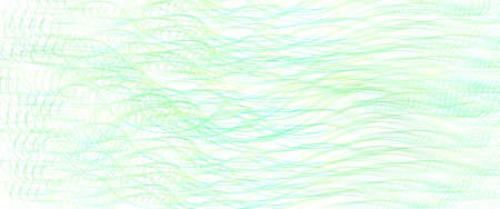 Light green thin wavy lines. Tangled squiggle curves. Abstract vector background. Textured pattern. Template design for banner, landing page, check, gift card, certificate. Pencil drawing imitation. EPS10 illustration