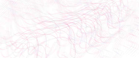 Pink, gray thin undulating lines. Tangled, subtle curves. Pastel squiggles, wave pattern. Abstract vector background. Template design for banner, landing page, check, presentation. Pencil drawing imitation. EPS10 illustration Stock Illustratie