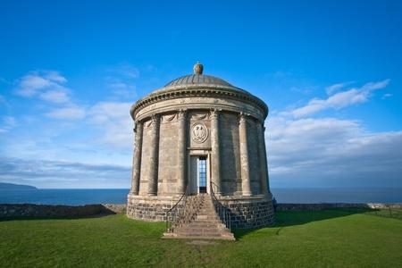 stoneworks: Mussenden Temple historic site on the north Irish coast.
