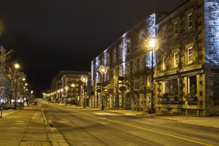 scotia: Deserted night-time street scene.