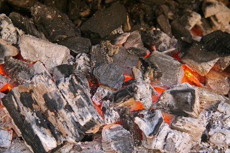 ember: Hot coals for the barbecue Stock Photo
