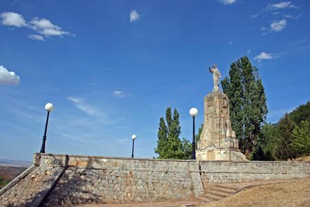 sacre coeur: Monument au Sacré-C?ur de Jésus, Soria (Espagne) Banque d'images