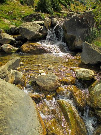 arroyo: Arroyo in the Valley of Tena, Huesca (Spain) Stock Photo