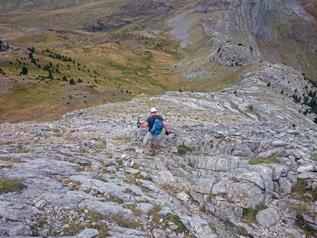 escalation: Down the valley of Tena, Huesca (Spain) Stock Photo