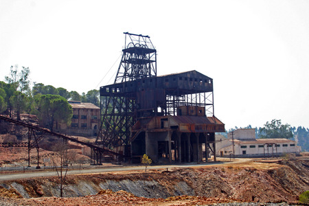 Abandoned mining industry, Huelva (Spain)