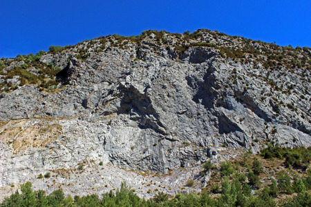 Court in the mountains to the valley of Tena, Huesca (Spain)