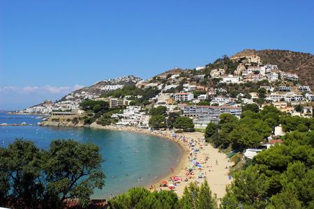 Beach Gulf of Roses, Catalonia (Spain)