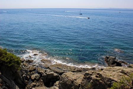 Coast of the Bay of Roses, Catalonia (Spain)