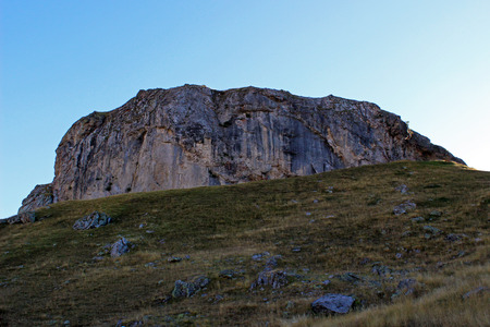 escalation: Mountain in the Pyrenees of Huesca, Formigal (Spain)