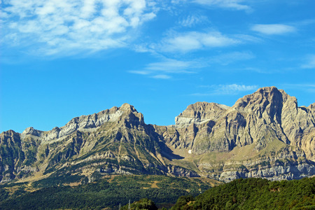 escalation: Mountain of the Pyrenees Huesca, Panticosa (Spain) Stock Photo