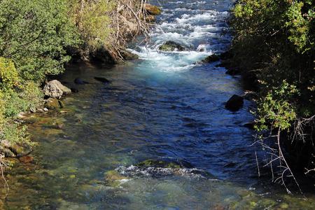 waters: River clean waters in Sallent de Gallego, Valle de Tena (Huesca)