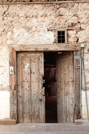 Old door and ancient wall in Turkey Stock Photo - 6502004