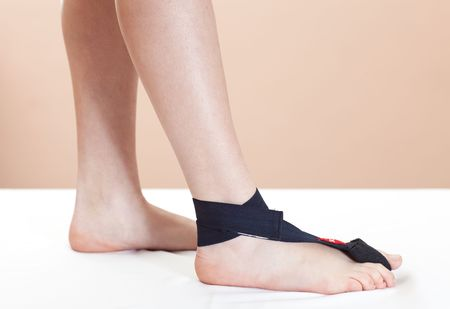 Support for foot injury photo