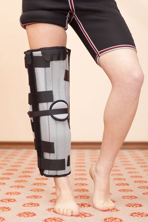 Support for leg or knee injury, front view photo