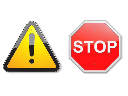danger ahead: Vector illustration of traffic signs. Illustration