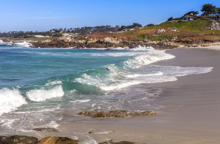 pebble beach: This is one of many beaches along the famous 17 mile drive in Pebble Beach.