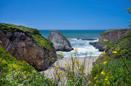 seascapes: This geological feature was created due to millions of years of erosion from the shoreline.