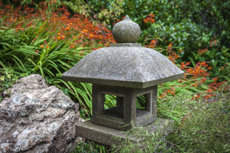 Pagoda in a Japanese garden located in San Franciscos Golden Gate Park.