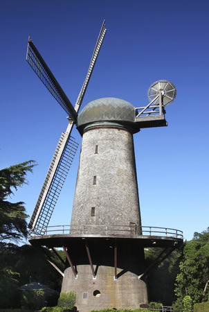 This is an image of the famous doutch windmill found in San Franciscos Golden Gate Park. Im was taken in the Spring of 2017.