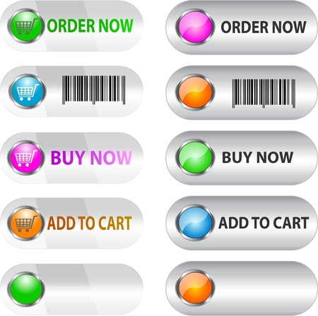 purchase order: Labelbutton set for ecommerce for web usage