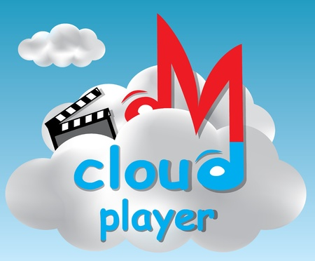 Player concept based on a cloud computing idea Vector