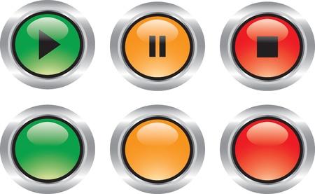 semaphore: Buen conjunto de iconos brillantes tecnol�gicos y web con reflexiones