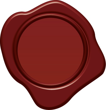 Blank wax seal in 3d style Vector