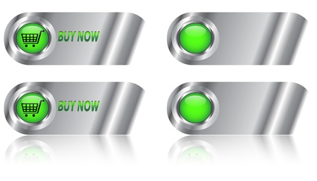 Buy now and blank web button/label set for ecommerce.  Vector