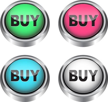e commerce: Kleurrijke glossy web iconen voor e-commerce.