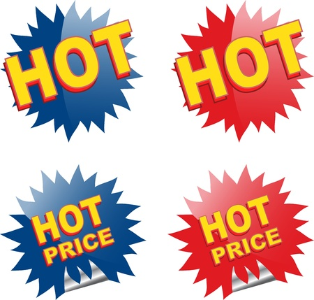 hot price: Web and print elements. Vector illustration