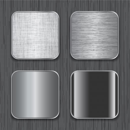 Blank metallic apps icon templates.  Vectores