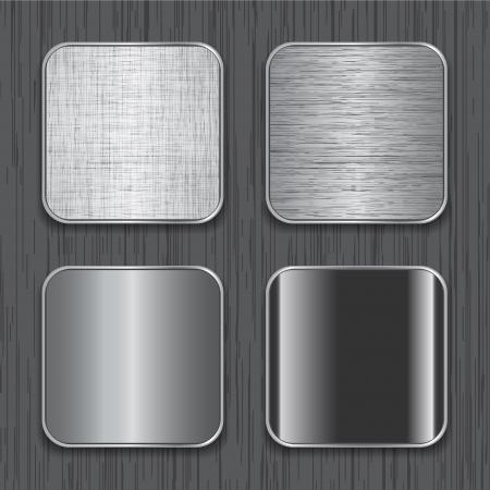 Blank metallic apps icon templates.  Ilustração