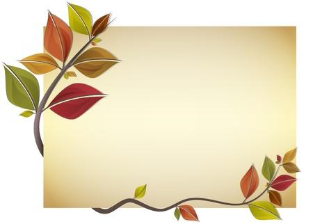 složení: Karta zdobené větve na podzim barevné listí