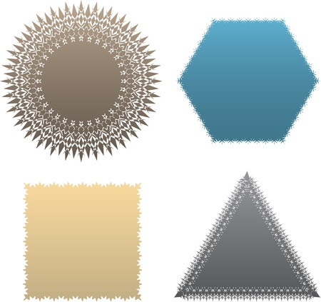 boarder: Set of decorative labels and tags. Blank templates.