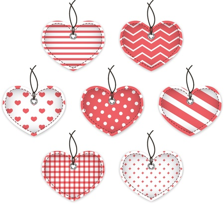 Red textured hearts for Valentine's Day Stock Vector - 17474889
