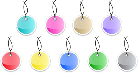 hang tag: Glossy tag labels. Colorful stickers.  illustration