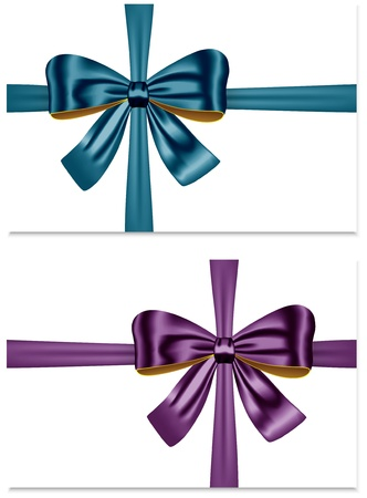 Gift ribbon bows for festive decorations. Gift cards. Stock Vector - 18855119