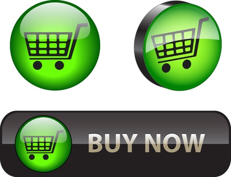 order now: Stylish web elements for ecommerce. Vector illustration