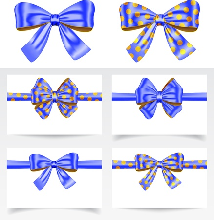 Gift ribbon bows for festive decorations. Gift cards.  Stock Vector - 19117589